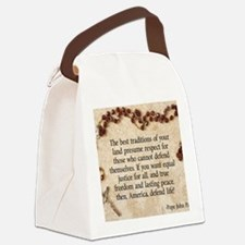 Pope John Paul Defend Life Canvas Lunch Bag