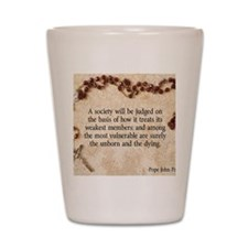 Pope John Paul II Pro-Life Shot Glass