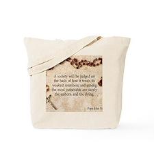 Pope John Paul II Pro-Life Tote Bag