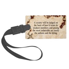 Pope John Paul II Pro-Life Luggage Tag