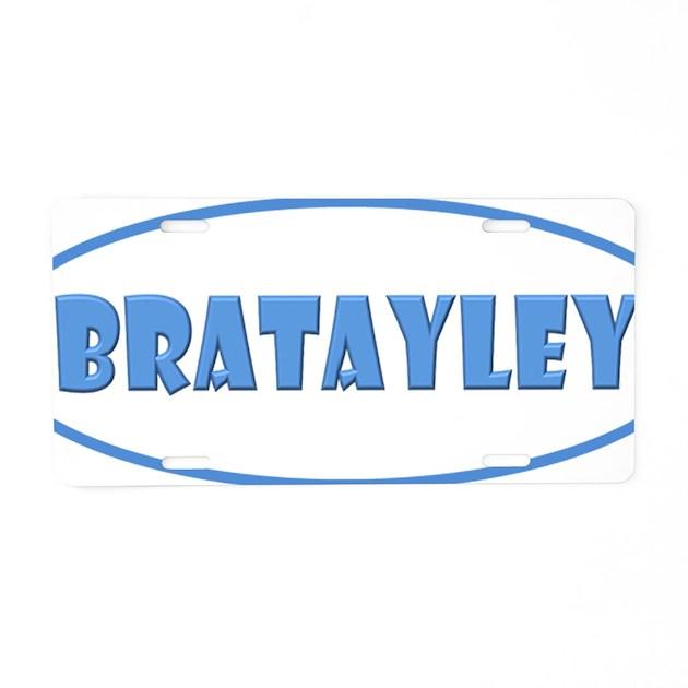 Bratayley Logo Aluminum License Plate By AdminCP68579153
