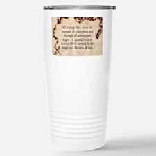 Catholic Pro-Life Quote Stainless Steel Travel Mug