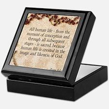 Catholic Pro-Life Quote Keepsake Box
