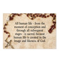 Catholic Pro-Life Quote Postcards (Package of 8)