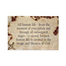Catholic Pro-Life Quote Rectangle Magnet