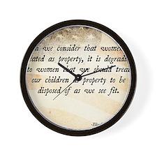 Elizabeth Cady Stanton Wall Clock