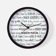 Everything I Need Nurse Tote Bag Wall Clock