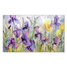 Purple and Yellow Iris Romanti Decal