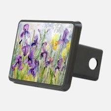 Purple and Yellow Iris Rom Hitch Cover