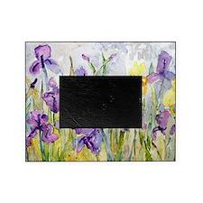 Purple and Yellow Iris Romantic Ruff Picture Frame