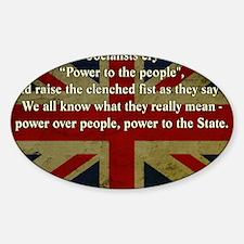Margaret Thatcher Quote Sticker (Oval)