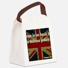 Margaret Thatcher Defense Quote Canvas Lunch Bag