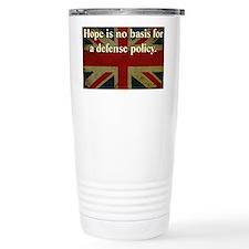 Margaret Thatcher Defense Quote Thermos Mug