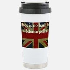 Margaret Thatcher Defense Quote Thermos Mug