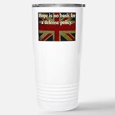 Margaret Thatcher Defense Quote Travel Mug