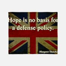 Margaret Thatcher Defense Quote Throw Blanket