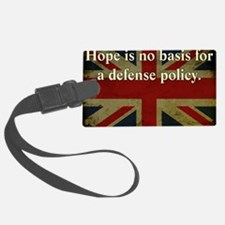 Margaret Thatcher Defense Quote Luggage Tag