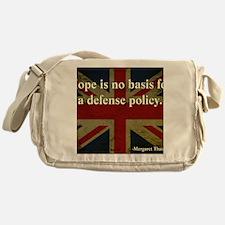 Margaret Thatcher Defense Quote Messenger Bag