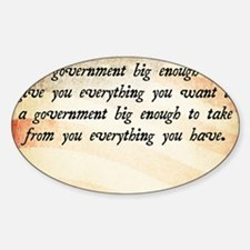 Gerald Ford Quote Sticker (Oval)