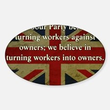 Thatcher Anti-Union Quote Decal