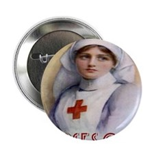 """Red Cross Poster Nurses Care Tote Bag 2.25"""" Button"""