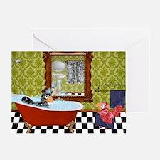 Patty  Egbert Take a Bath large prin Greeting Card