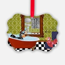 Patty  Egbert Take a Bath large p Ornament
