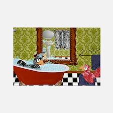 Patty  Egbert Take a Bath large p Rectangle Magnet