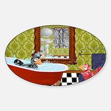 Patty  Egbert Take a Bath large pri Decal