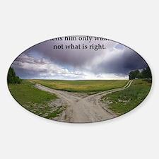 Eisenhower Quote Sticker (Oval)
