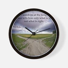 Eisenhower Quote Wall Clock
