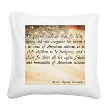 Immigration Quote Square Canvas Pillow