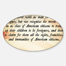 Immigration Quote Decal