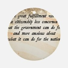Warren G. Harding Quote Round Ornament