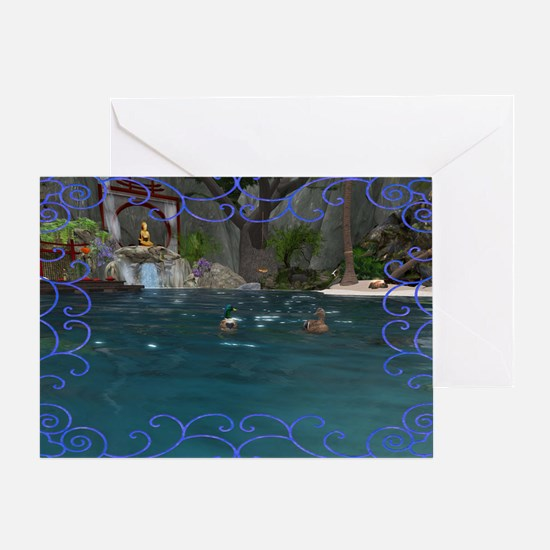 Zen Tide Greeting Card