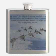 John F. Kennedy Military Quote Flask