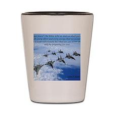 John F. Kennedy Military Quote Shot Glass