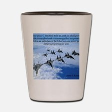 John F. Kennedy Military Quote Shot Glass