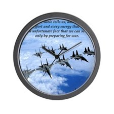 John F. Kennedy Military Quote Wall Clock