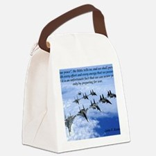John F. Kennedy Military Quote Canvas Lunch Bag