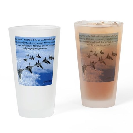 John F. Kennedy Military Quote Drinking Glass