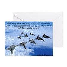 John F. Kennedy Military Quote Greeting Card