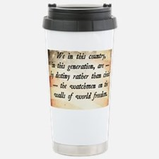JFK Foreign Policy Quote Travel Mug