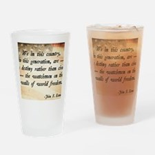 JFK Foreign Policy Quote Drinking Glass