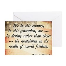 JFK Foreign Policy Quote Greeting Card
