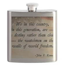 JFK Foreign Policy Quote Flask