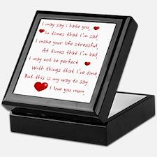 i love my mum  Keepsake Box