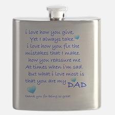 I LOVE MY DAD Flask
