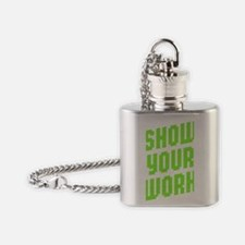 Show Your Work Flask Necklace