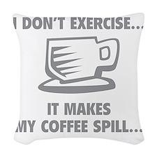 coffeeSpilling1C Woven Throw Pillow